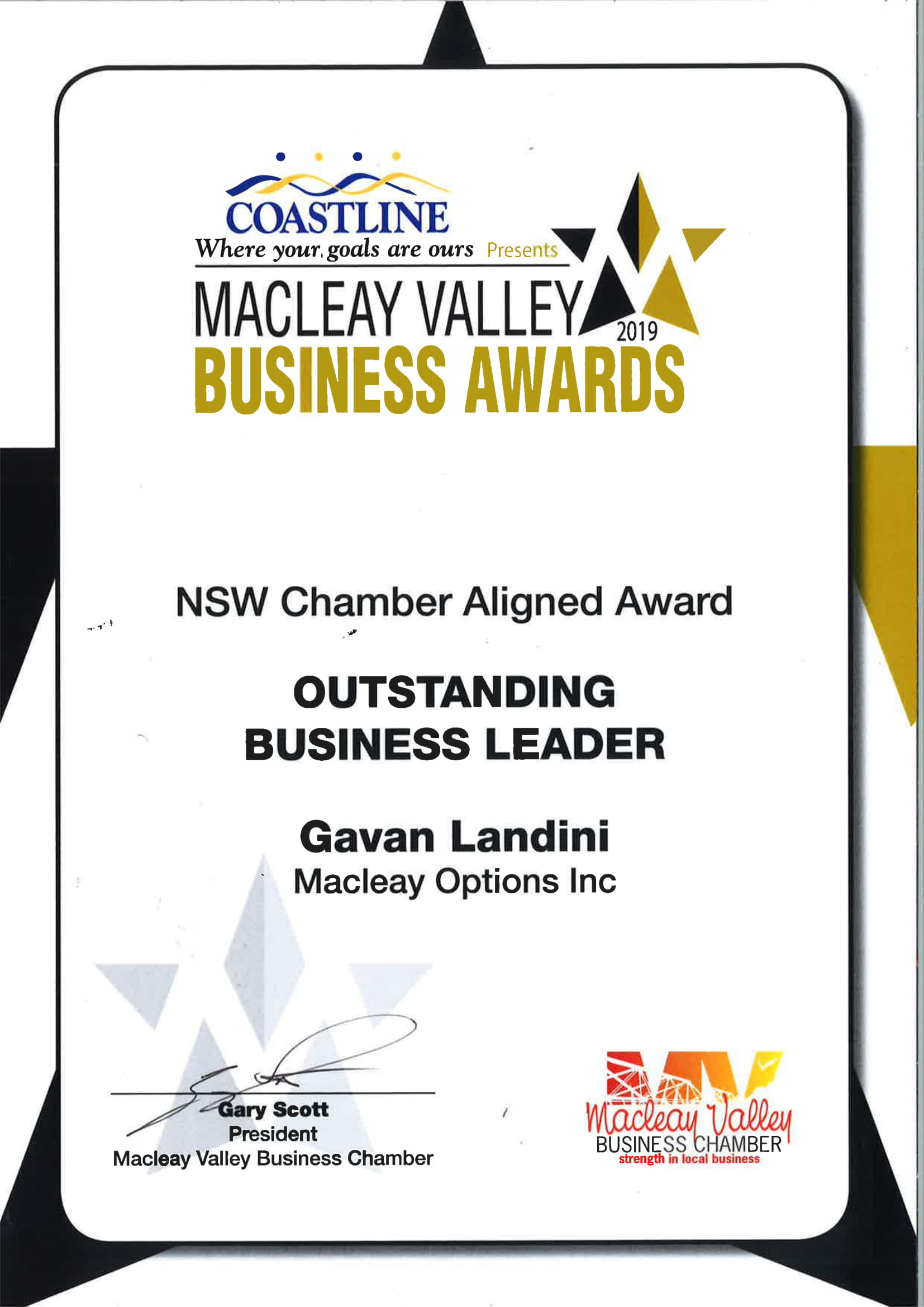 MOINC - Outstanding Business Leader 2019