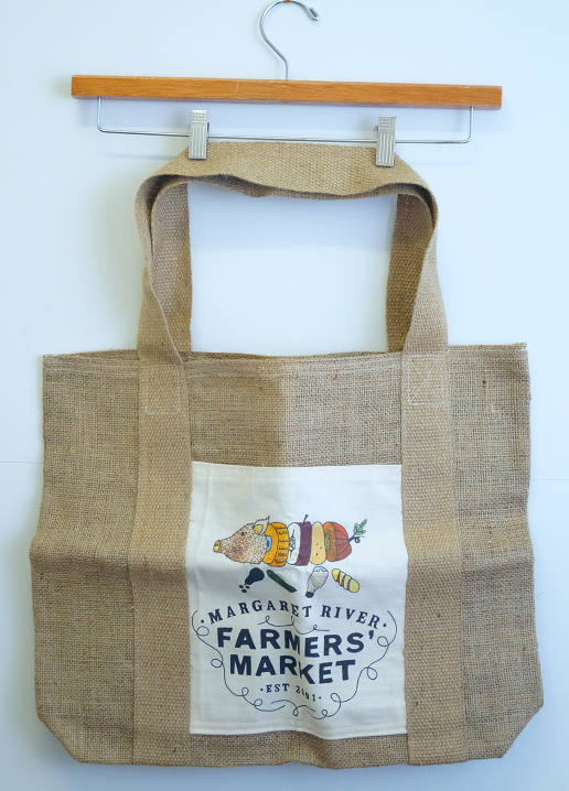 Threads hessian merchandising bag