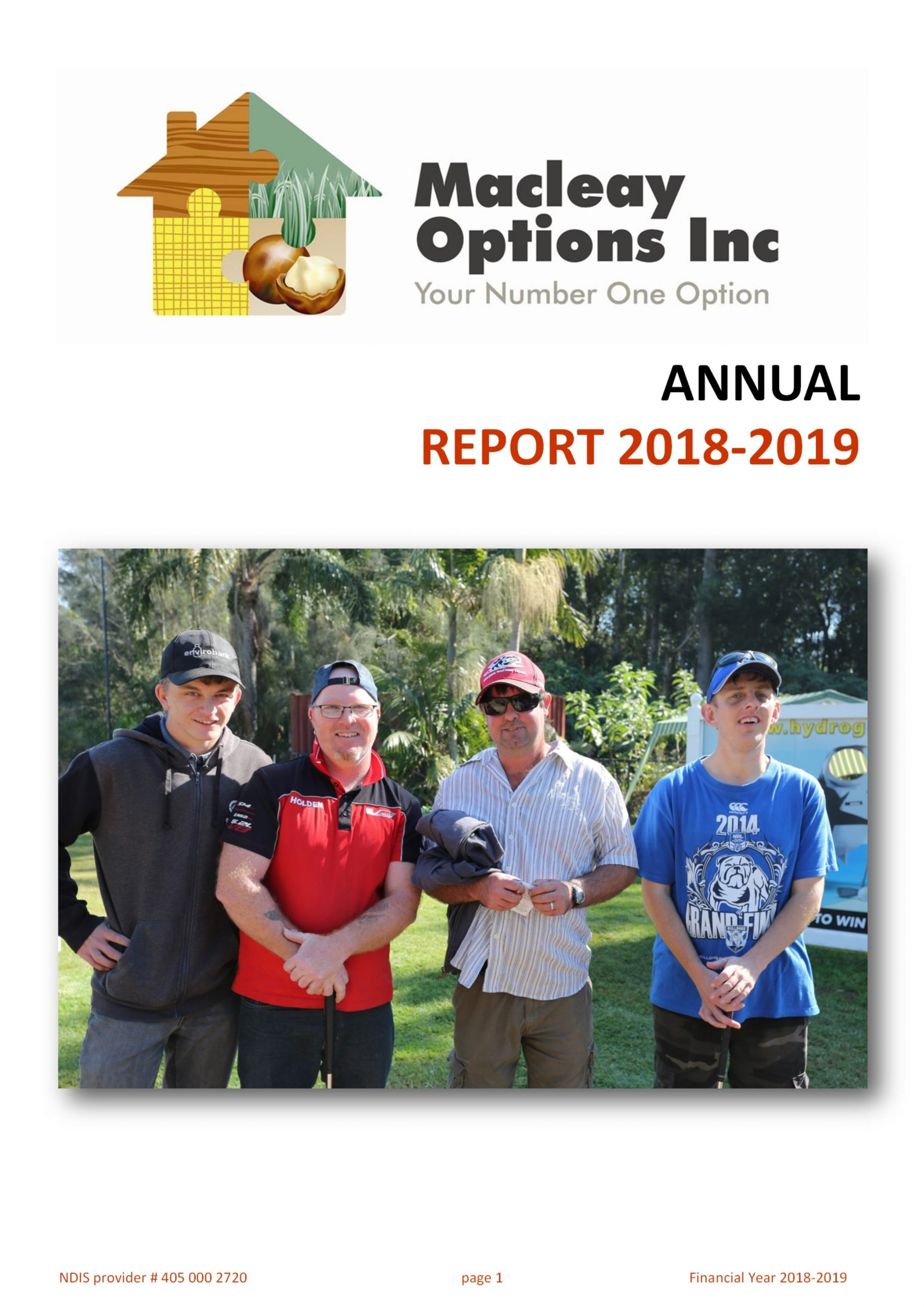 Macleay Options Inc. Annual Report 2018-2019